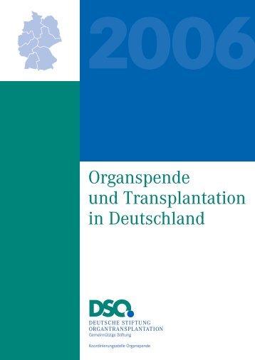 Organspende und Transplantation in Deutschland