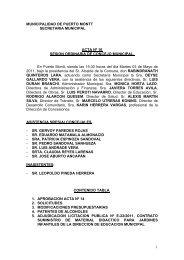 1 MUNICIPALIDAD DE PUERTO MONTT SECRETARIA ...