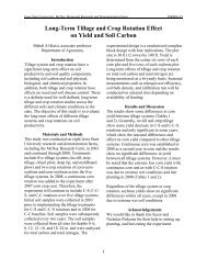 Long-Term Tillage and Crop Rotation Effect on Yield and Soil Carbon