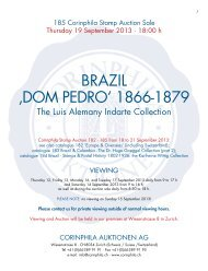 BRAZIL 'DOM PEDRO' 1866-1879 - Corinphila Auktionen AG