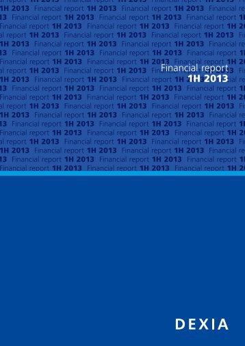 Financial report 1H 2013 - Dexia.com