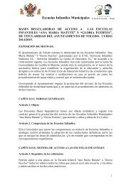 Escuelas Infantiles Municipales - Ayuntamiento de Toledo