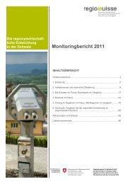Monitoringbericht 2011.pdf - Regiosuisse