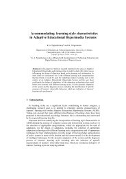 Accommodating learning style characteristics in Adaptive ...