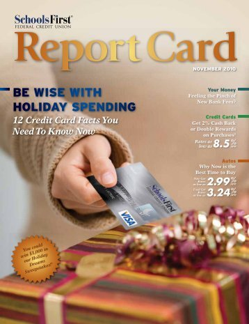 be wise with holiday spending - SchoolsFirst Federal Credit Union