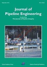 Journal of Pipeline Engineering - Pipes & Pipelines International ...
