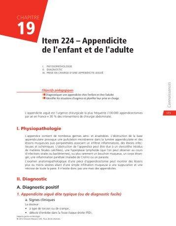 Item 224 – Appendicite de l'enfant et de l'adulte - Decitre