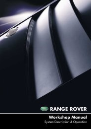 Range Rover Workshop Manual - System Description and Operation ...