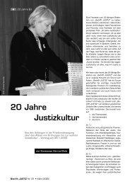 20 Jahre Justizkultur - Betrifft Justiz