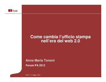 Come cambia l'ufficio stampa nell'era del web 2.0 - Forges ...