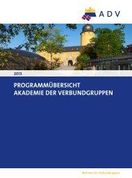 Programmübersicht - Akademie der Verbundgruppen ADV