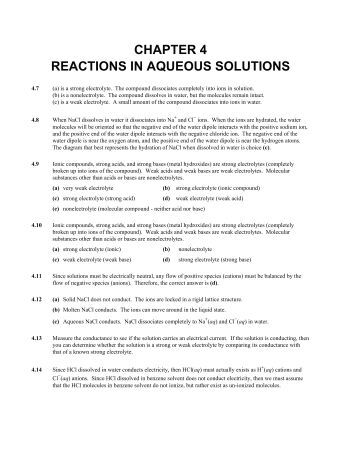 Worksheets Reactions In Aqueous Solutions Worksheet ch 4 aqueous reactions and solution stoichiometry a note on chapter in solutions