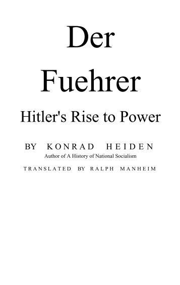 Der Fuehrer - Hitler's Rise to Power (1944) - Heiden