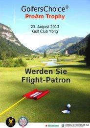 GolfersChoice Werden Sie Flight-Patron - Golf Club Ybrig