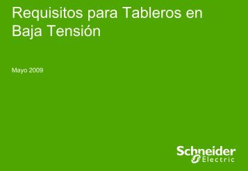 Requisitos para tableros en Baja Tensión - Schneider Electric