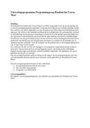 Uitvoeringsprogramma Programmagroep ... - Provincie Zeeland