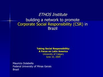 Building a Network to Promote Corporate Social Responsibility in ...