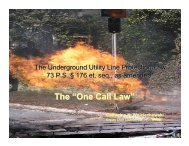 """The """"One Call Law"""" - PUC - Pennsylvania Public Utility Commission"""