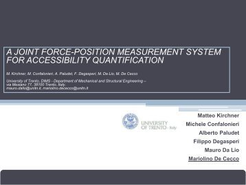 a joint force-position measurement system for accessibility ... - EPR