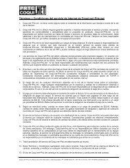 Términos y Condiciones del servicio de Internet de Coqui.net~Prtc.net