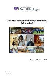 VFU-guide 2010/2011 - Borlänge kommun