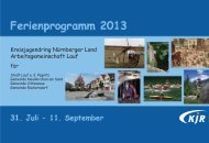 Ferienprogramm 2013 - Stadtbücherei Lauf