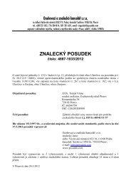 ZNALECKÝ POSUDEK číslo: 4887-1033/2012 - OKdrazby.cz