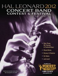 CONCERT BAND contest festival - Pender's Music Company