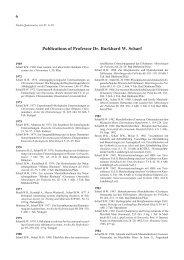 Publications of Professor Dr. Burkhard W. Scharf