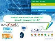 APPUI UEMOA/PACER A L'ESMT – Édition 1 ... - EuroAfrica-ICT