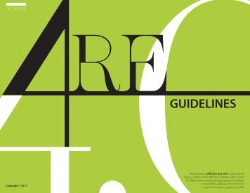 Architectural Registration Examination Guidelines - Stuckeman