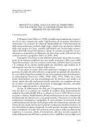 PROGETTO CAERE: DALLO SCAVO AL TERRITORIO UNA ...