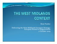 The Regional Context - West Midlands Regional Assembly