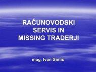 Računovodski servis in missing traderji - GZDBK