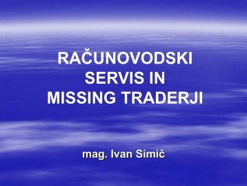 Računovodski servis in missing traderji - GZDBK