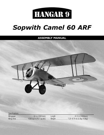Sopwith Camel Manual - Hangar 9