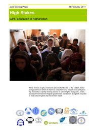 Girls' Education in Aghanistan 2011
