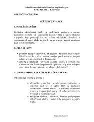 Veřejný závazek - Středisko sociálních služeb Kopřivnice