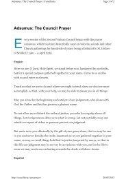 Adsumus: The Council Prayer - Laikos