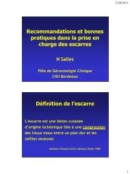 Recommandations et bonnes pratiques dans la prise en ... - e-plastic.fr