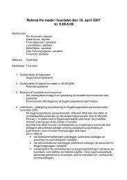 Referat fra møde i husrådet den 16. april 2007 kl ... - Sygehusapoteket