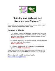 """Lär dig läsa arabiska och Koranen med Tajweed"""" - Islamguiden"""