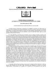 Compte-rendu du Colloque sur La France et la Cour ... - CREDHO