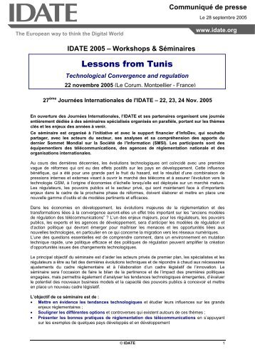 CP lessons from tunis-VF - Idate