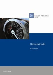 Ratingmethodik - Euler Hermes Rating Deutschland GmbH