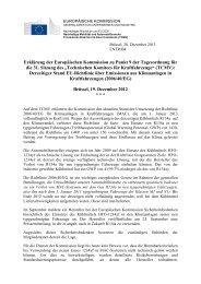 Erklärung der Europäischen Kommission zu Punkt 9 der ...