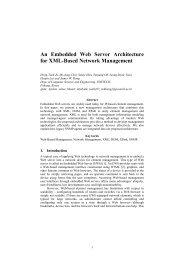 An Embedded Web Server Architecture for XML-Based - (Distributed ...