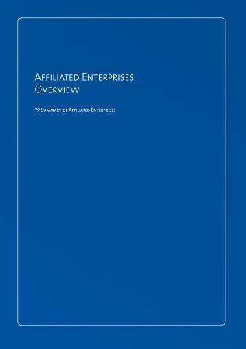 Affiliated Enterprises Overview & Special Disclosures - UMC