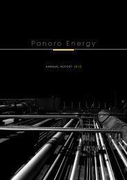 annual rEPort 2010 - Panoro Energy