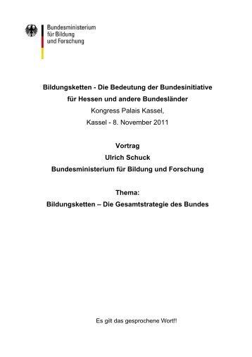 Bildungsketten - Die Bedeutung der Bundesinitiative für ... - OloV